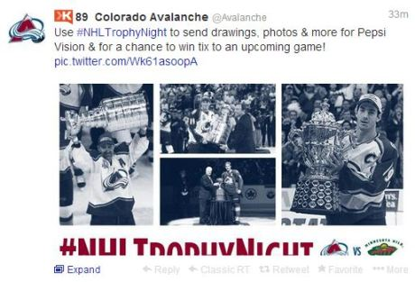 Colorado Avalanche tweet