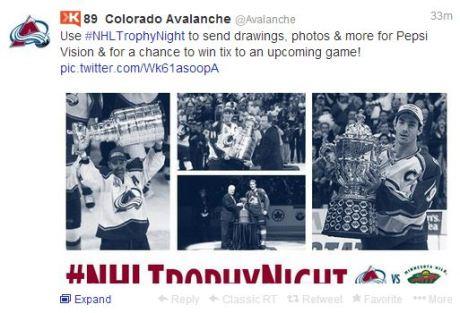 Colorado Avalanche tweet