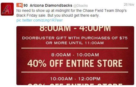 Arizona Diamondbacks tweet