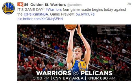 Golden State Warriors tweet