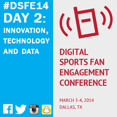 Day 2 of the Digital Sports Fan Engagement Conference focused on innovation, technology and data -- especially how it affects content and fan interactions.
