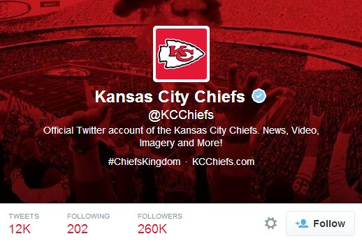 Kansas City Chiefs Twitter header - mobile