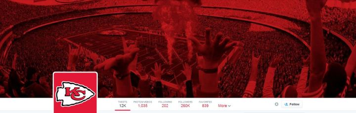 Kansas City Chiefs Twitter header - desktop