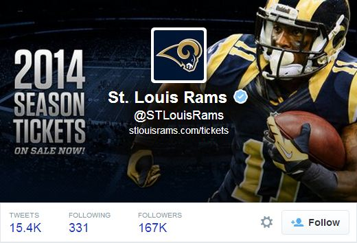 St. Louis Rams Twitter header