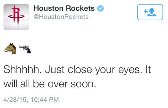 Houston Rockets tweet
